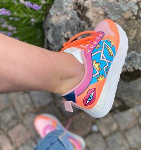 Custom sneakers - Stay rad höger utsida