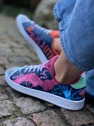 Custom sneakers - Love all Non violence