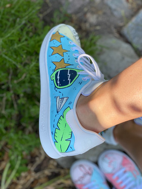 Custom sneakers - För evigt brudgum solglasögon