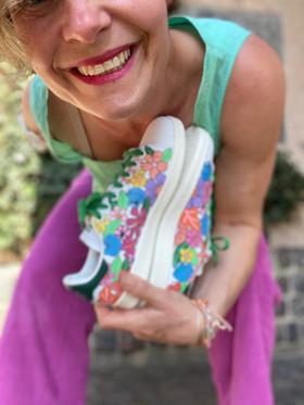 Custom sneakers - Shell & flower bonanza med mig