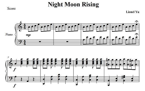 Night Moon Rising