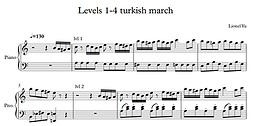 Levels 1-4 of Turkish March