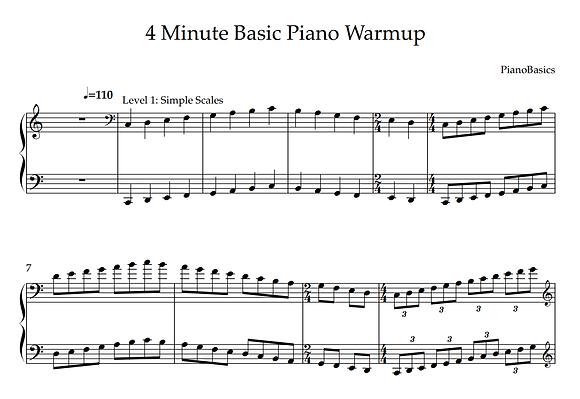 Daily Piano Warmup