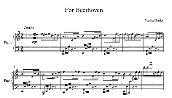 For Beethoven