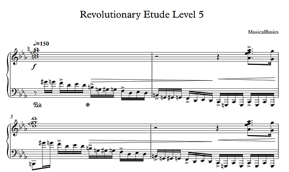 5th Level of Revolutionary Etude