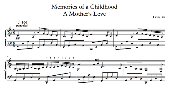 A Mother's Love - from Memories of a Childhood
