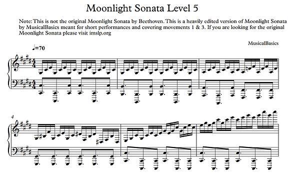 5th Level of Moonlight Sonata