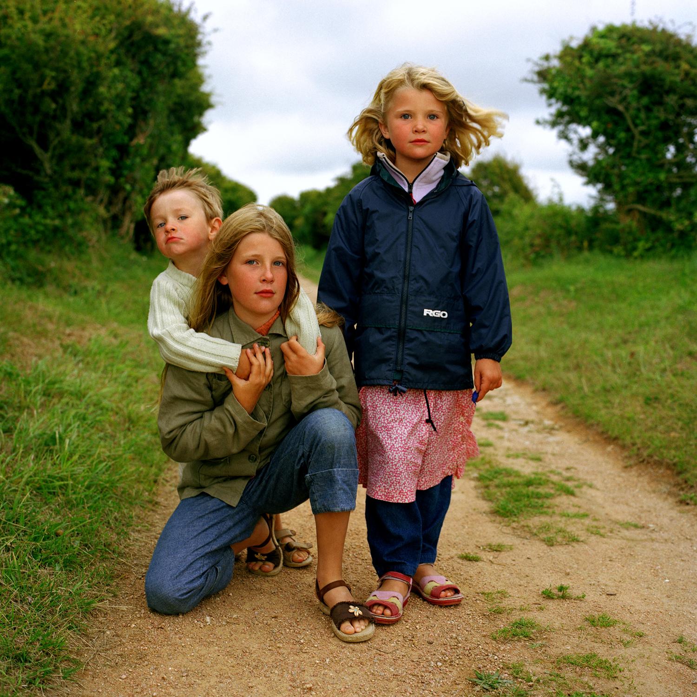 Elise, Lucie, Martin, La Manche.