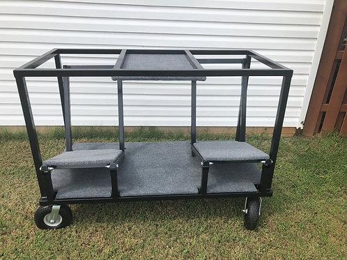 Double Tilting Speaker Cart