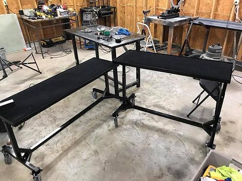 Telescoping Synth/Piano Cart (indoor wheels)