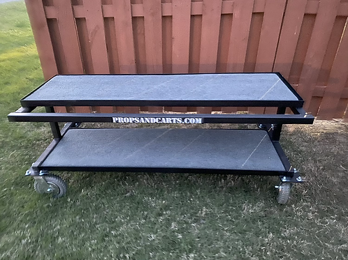 Telescoping Synth/Piano Cart (outdoor wheels)