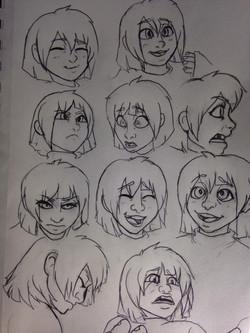 Frisk Facial Expressions Sheet