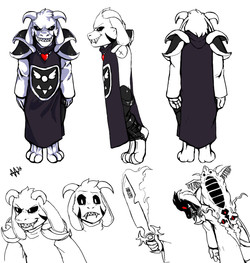 Asriel Character Model Sheet