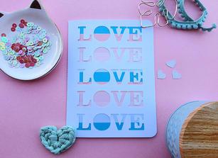 Cartão Love Love Love