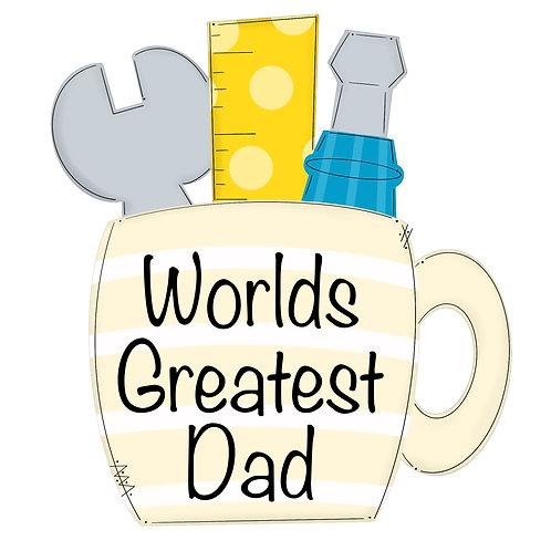 "20"" World's Greatest Dad"