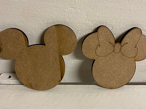 "4"" Minnie/Mickey duo"