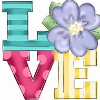 """12"""" Love flower"""