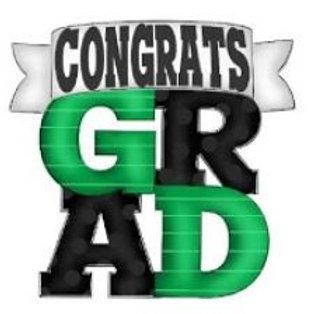 """12"""" Congrats GRAD"""