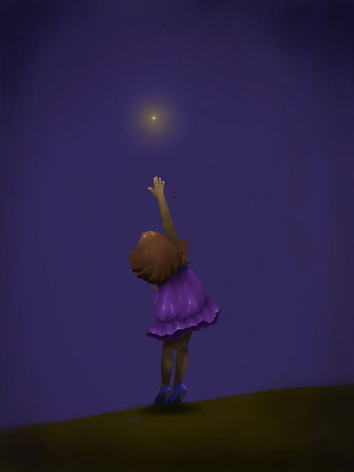 A girl and a firefly