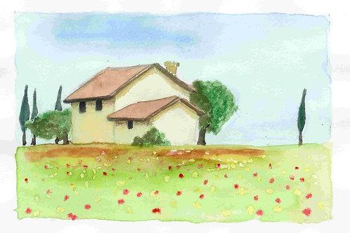 גלויה - בית בטוסקנה