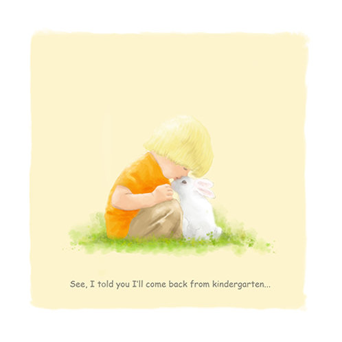 A Boy and a Rabbit