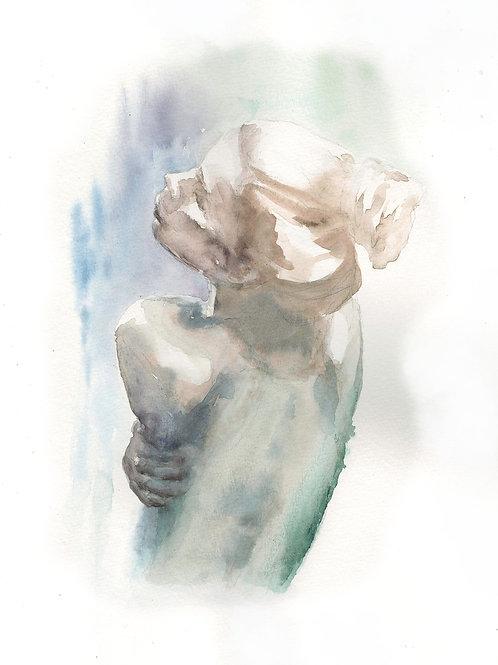 Embracing Myself. Watercolor Original.