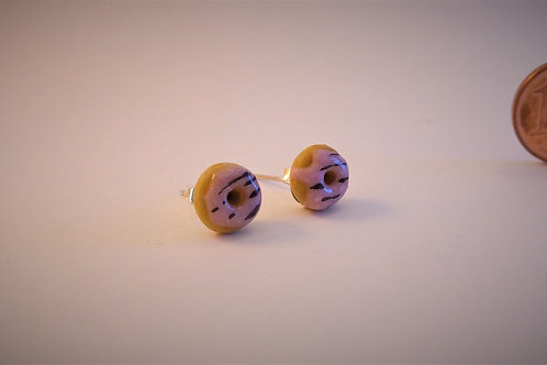 Donut stud earrings