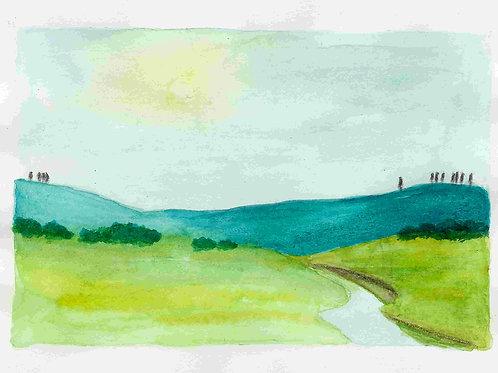 Postcard - The River