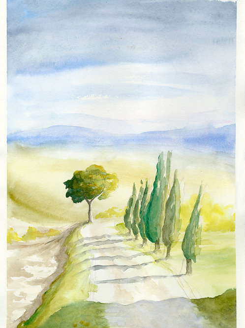 The Path. Watercolor Print.