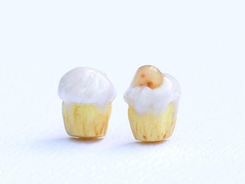 banana cupcake Earrings
