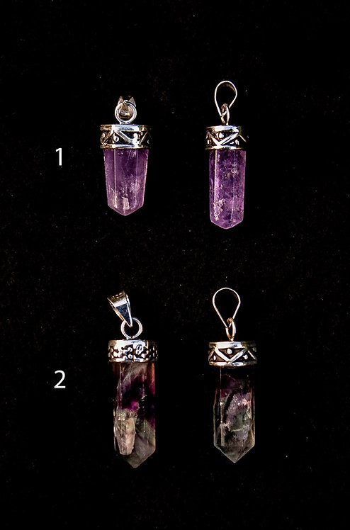Large Crystal Point Pendants