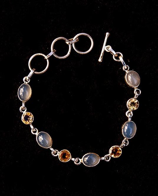 Moonstone and Citrine Bracelet