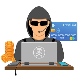 Compras fraudulentas com cartões vazados