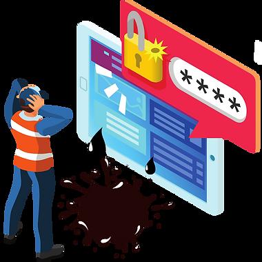Vazamento de credenciais de clientes