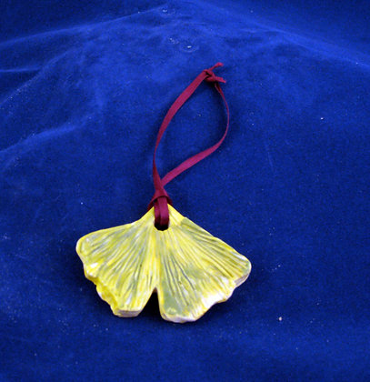 ginkgo leaf ornament