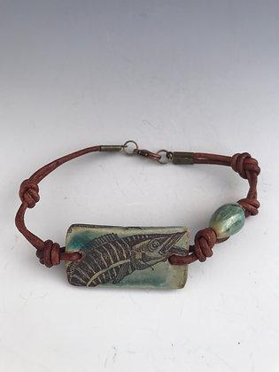 flying wahoo aqua bracelet