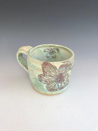 mint hibiscus mug