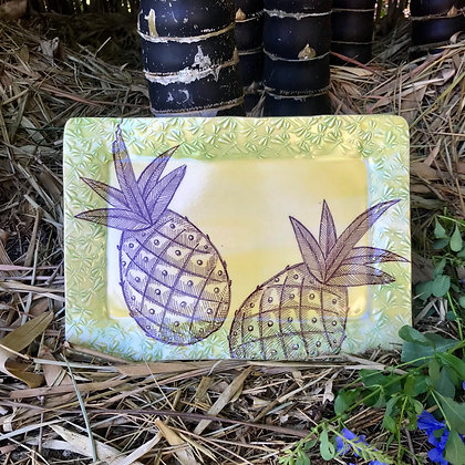 twin pineapples tray