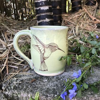 large hummingbird mug