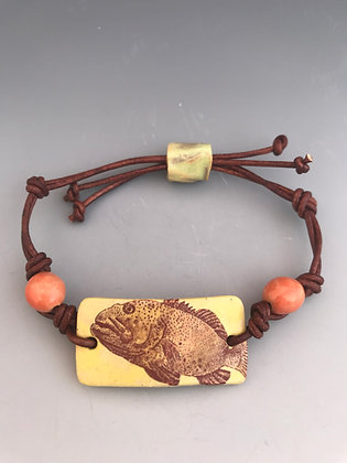 grouper bracelet in yellow