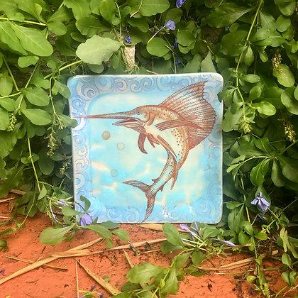 flying sailfish plate