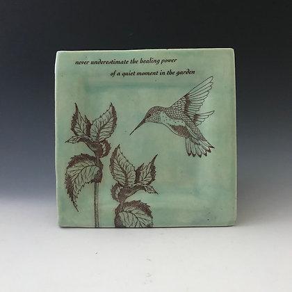 aqua garden plate