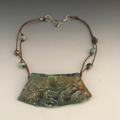 luminescent raku necklace
