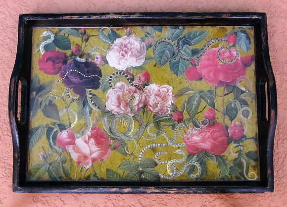 snakes & roses tray