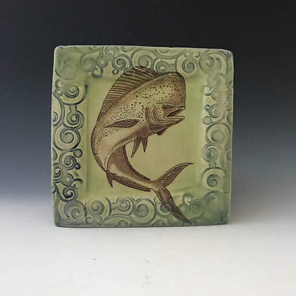 flying dolphin  plate