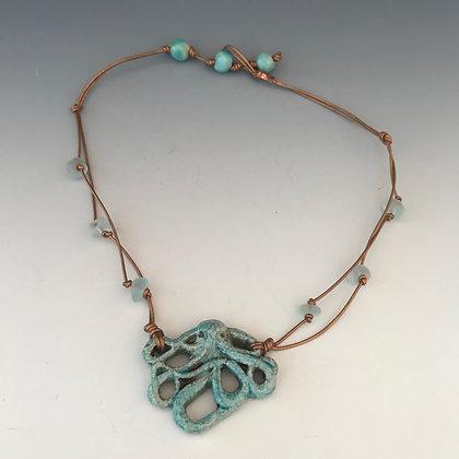 raku octopus necklace