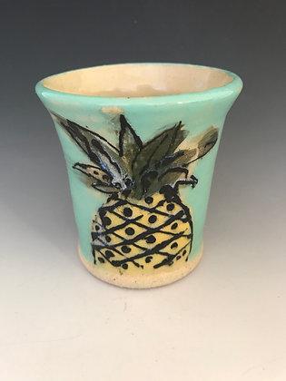 painted pineapple mug