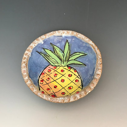 """yellow & red pineapple """"catch-all"""""""