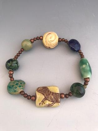 lizard stetch bracelet in yellow