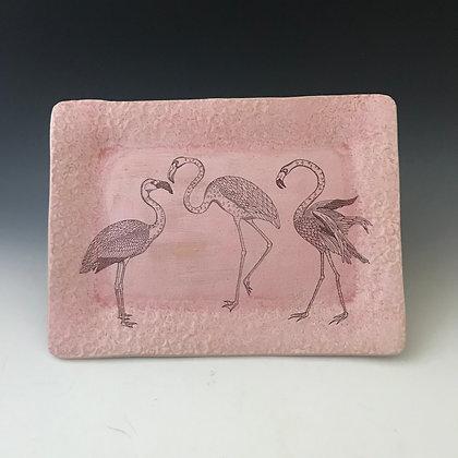 flamingos tray